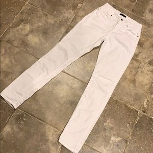 White straight pants